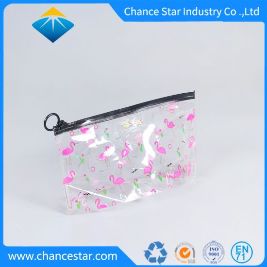 Custom Printed PVC Makeup Bag with Hole Head Zipper