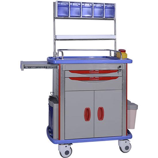 Hospital Furniture Detachable Hospital ABS Hand Trolley