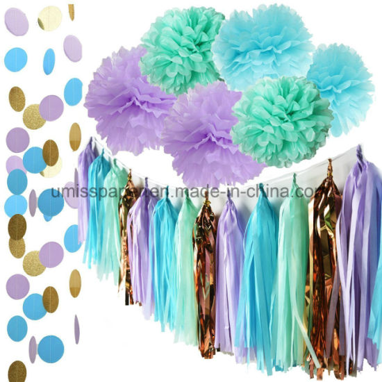 Umiss Paper Mermaid Party Decorations Baby Shower Bridal First Birthday