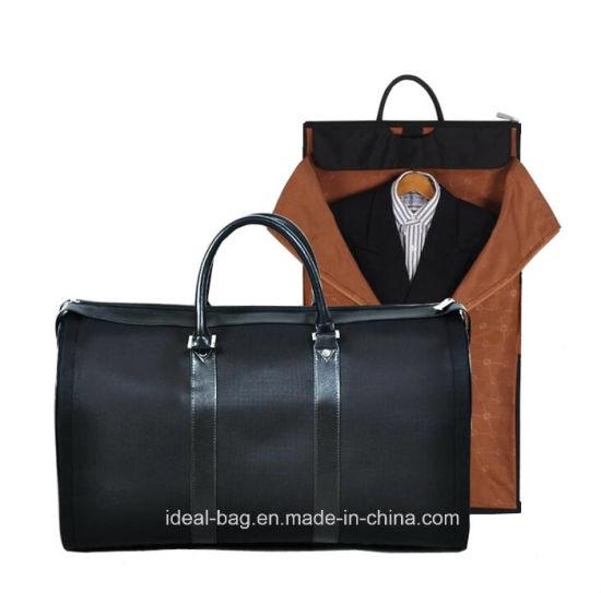 Foldable Nylon Leather Business Travel Duffle Bag Handbag, Travel Sport Garment Bag, Suit Cover Carrier Clothes Luggage Bag Wholesale