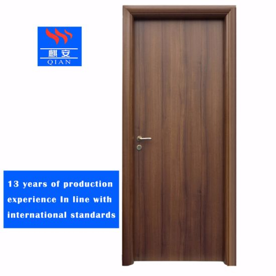 China Bs Certificate Fireproof Solid Wood Door Single Fire Rated