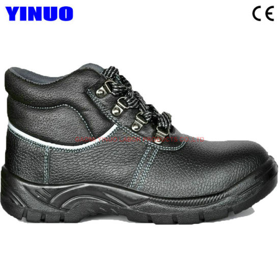 Genuine Leather Steel Toe Anti-Static Men's Safety Work Shoes
