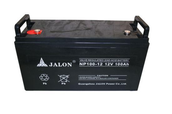 12V 100ah Valve Lead Acid Solar Battery Safety Rechargeable Maintenance Free