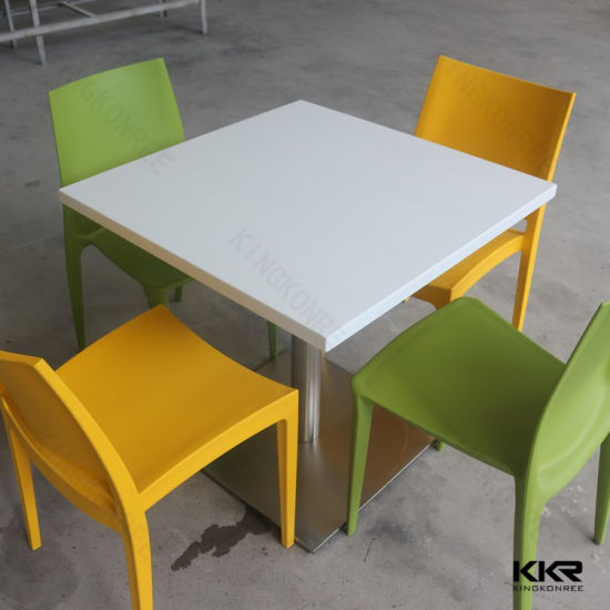 China Artificial Stone Corian Acrylic Solid Surface Restaurant Table - Corian restaurant table tops