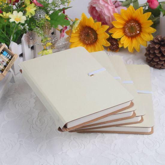 Custom Promotion Gift White Portable Printing Notebook with Pen