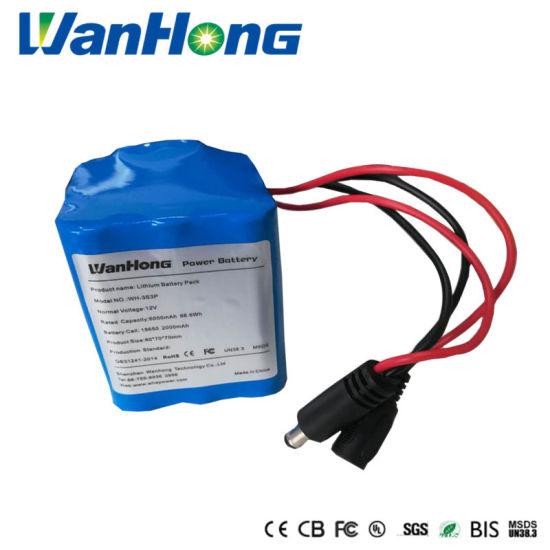 Rechargeable 18650 Battery 12V 6000mAh Lithium Battery Pack for Fire Equipment Storage Power Supply Solar Street Light