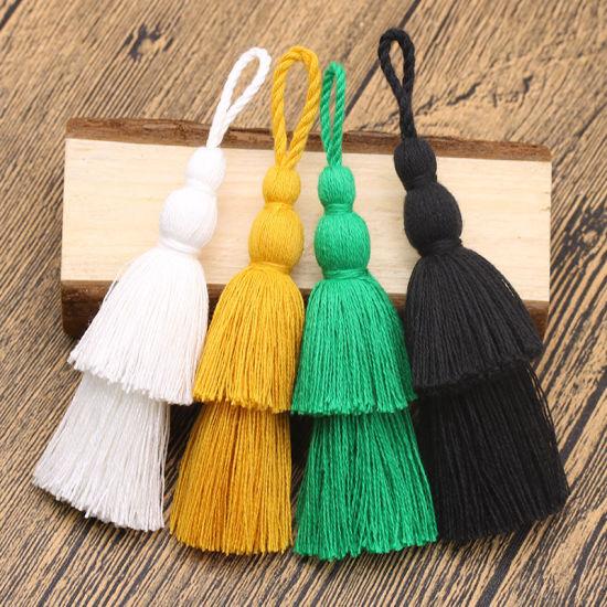 Wholesale 12cm More Colors Double Cotton Tassel Lace for Decoration
