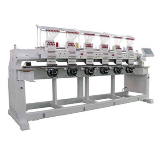 China Industrial High Speed 6 Head Computerized Embroidery Machine as Good as Japan Embroidery Machine