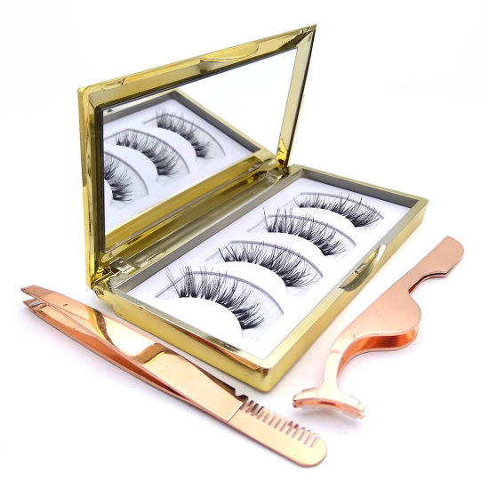 High Quality 100% 3D Faux Mink Private Label Magnetic Eyelashes pictures & photos