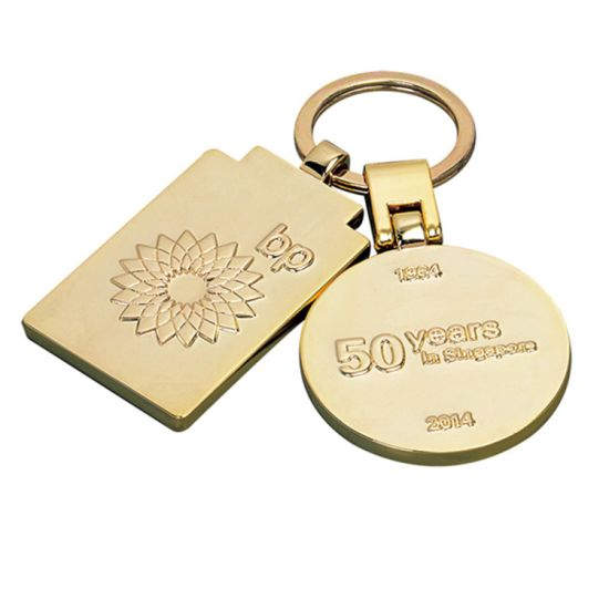 Antique Gold Keychain for Promotion