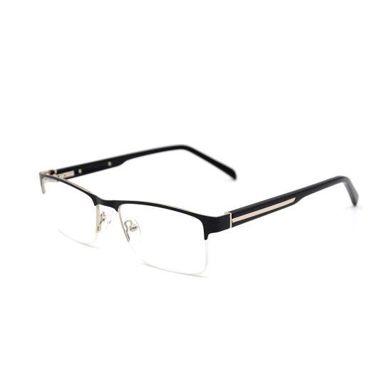 2019 Half-Rim Square Shape Stainless Steel Optical Frames Wholesale