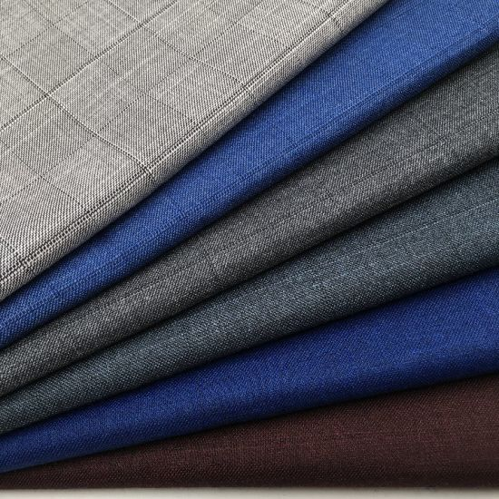 Oem Good Quality Polyester Viscose Tr Suit Fabric Poly Rayon Chemical China Textile Factory