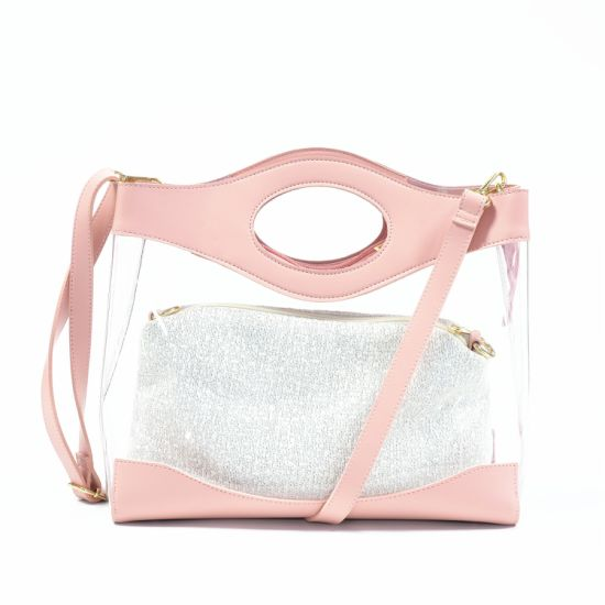 Wholesale Market Designer New Ladies Handbags Transparent Tote Purse Jelly PU Bag Best Selling 2019 W620-1 pictures & photos