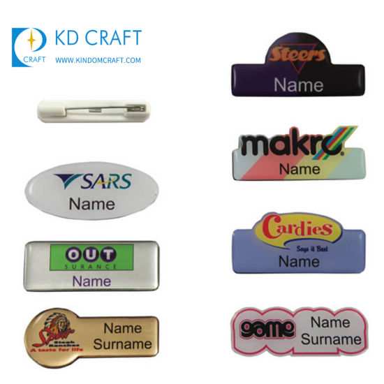 Custom Reusable Self-Adhesive Magnetic Metal Name Pin Maker DIY ID Square  Sublimation Electronic Digital Animal Shaped Magnet Blank 3D Aluminum Name