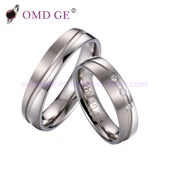 Fashion Titanium Wave Jewelry Wedding Ring Bands pictures & photos