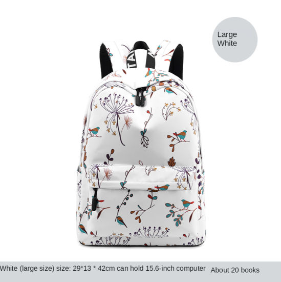 Wholesale Leisure Backpack Small Fresh Canvas Backpack Student School Bag Cartoon Computer Bags