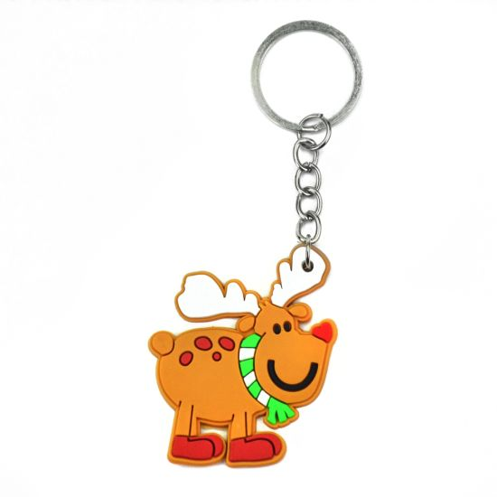 Factory Cheap Promotional Custom Silicone PVC Rubber Keychain pictures & photos