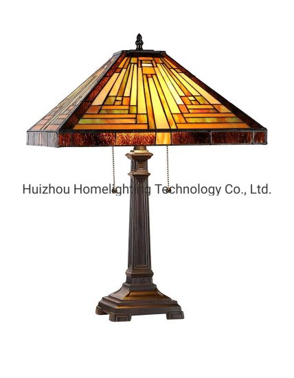 TFT-4256 Bedroom Beside Decorative Tiffany Handmade Stained Glass Shade Desk Table Lamp