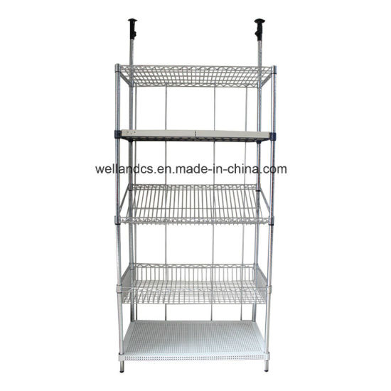 Commercial Used White Metal Metro New Adjustable Wire Mesh Shelf Parts Basket Shelving Rack pictures & photos