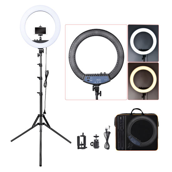 18 Inch 55W Dimmable LED Circle Makeup Selfie Ring Light with Tripod Stand with Mobile Phone Holder