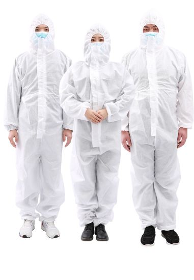 Top Quality China Supplier Ready to Ship Stock Low MOQ Disposable Insulating Clothing Isolation Coverall Gowns Disposable Coveralls