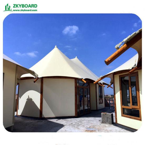 Prefab Big Size MGO Board Grain House Span Camping Villa Tent
