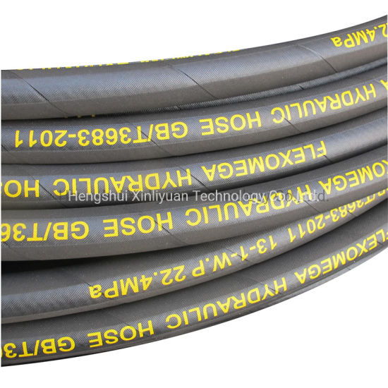 1/2 Inch R1at High Pressure Steel Wire Braided Hydraulic Rubber Hose