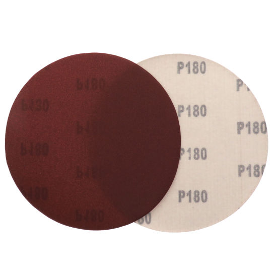7 Inch 180mm Hook and Loop Aluminum Oxide Red Sandpaper Sanding