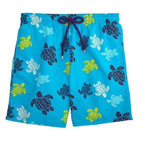 Black Bermuda Shorts Men's Spandex Waterproof Board Shorts Beach Shorts