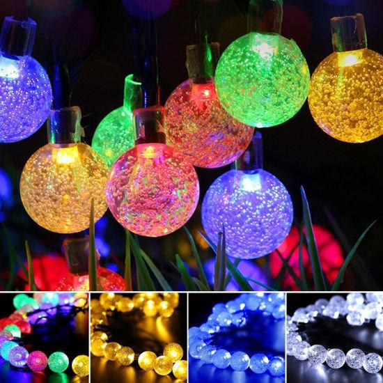 China 30 Led Light Solar Powered Fairy Bubble Ball String Lights
