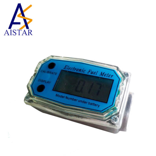 1.5/'/' Electronic Turbine Digital Diesel Gasoline Fuel Flow Meter 38-380L//Min