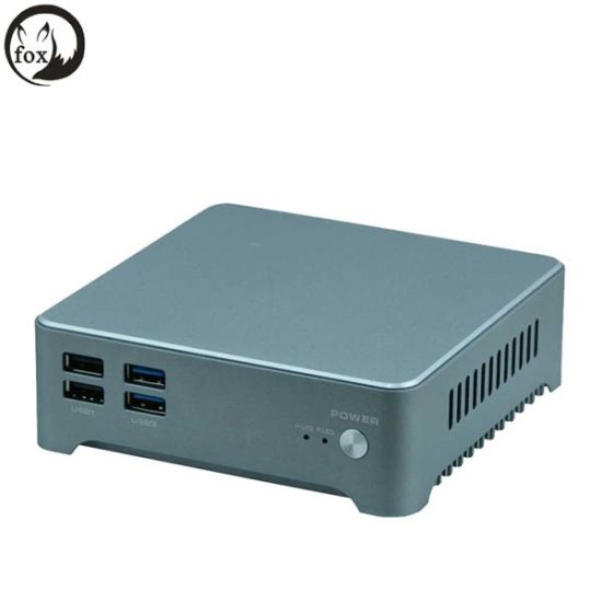 China X86 Mini PC Barebone 2 Gigabit Ethernet Nic Ports PC J1900 4 Core I3 4005u I5 I7 Processor Mini PC Fanless pictures & photos