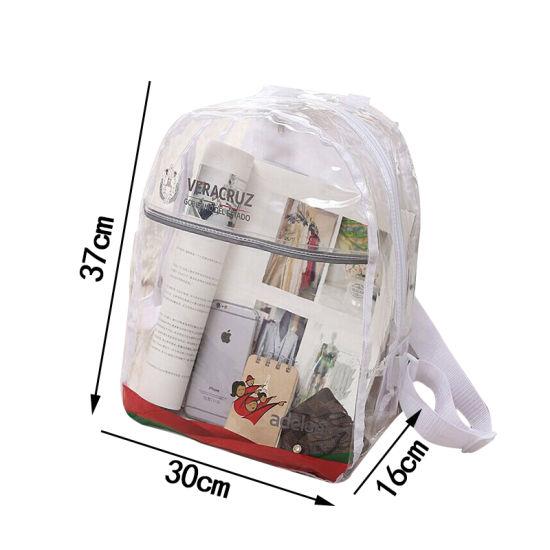 aab6c06ddd PVC Transparent Backpack Girl′s Women′s Waterproof Clear Summer Beach  Shoulder Pouch Shcool