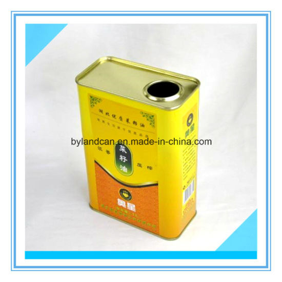 China Tinplate Container for Packaging Cooking Oil - China