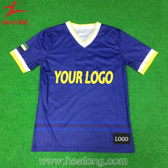 Any Color Printed T-Shirt with Full Sublimation Printing for Traing Wear pictures & photos