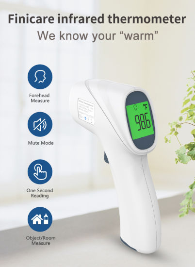 Non Contact Forehead Thermometer for Adults for Fever Digital Infrared Thermometer Gun for Children Baby with Fever Alarm, LCD Screen, Memory Recall