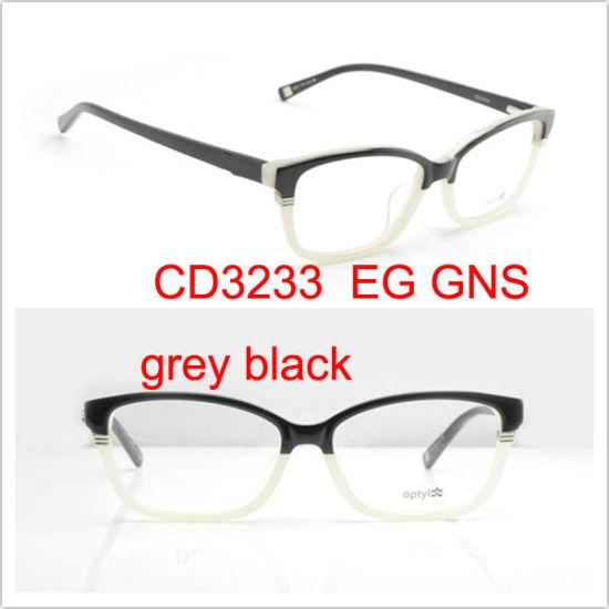 China Eye Glasses Frame, Name Brand Eyeglasses CD3233 GNS Grey Black ...