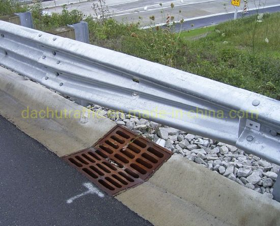 Galvanized Road Safety Guardrail Beam Transitions