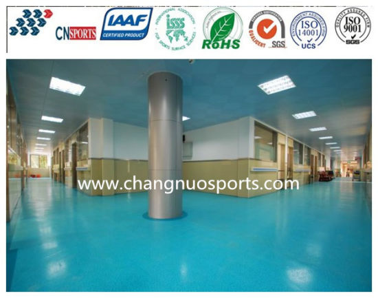 Abrasion Resistant Anti-Skid Spua Rubber Flooring of Stone Pattern pictures & photos