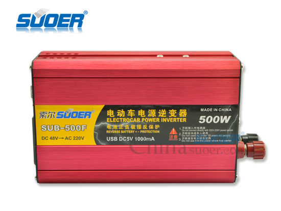 Suoer Factory Price 500W Inverter DC 48V to AC 220V Inverter (SUB-500F) pictures & photos