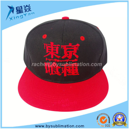 Red Color Baseball Hat Polyster Sports Cap
