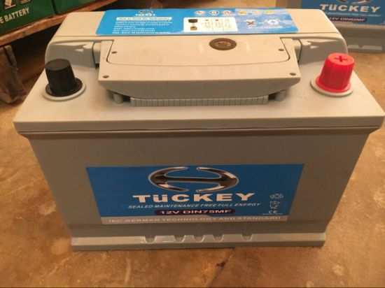 Tuckey DIN75mf 12V75ah Maintenance Free Car Battery pictures & photos