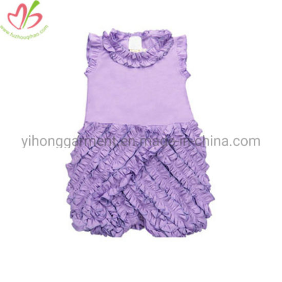 USA Design Organice Cotton Baby Clothes for Girl Withruffles