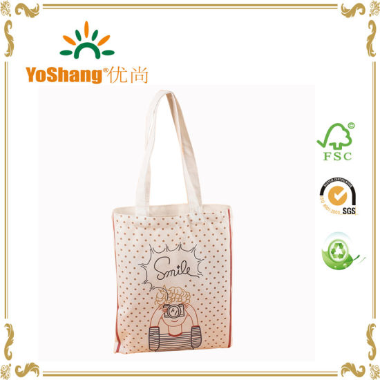 Recycled Cotton Canvas Bag for Promotional