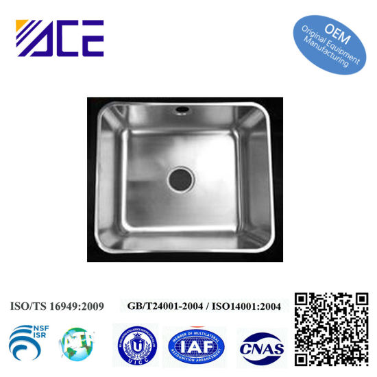 High Quality OEM Customized Stainless Steel Deep Drawn Steel Metal Stamping Parts of Kitchen Sink pictures & photos