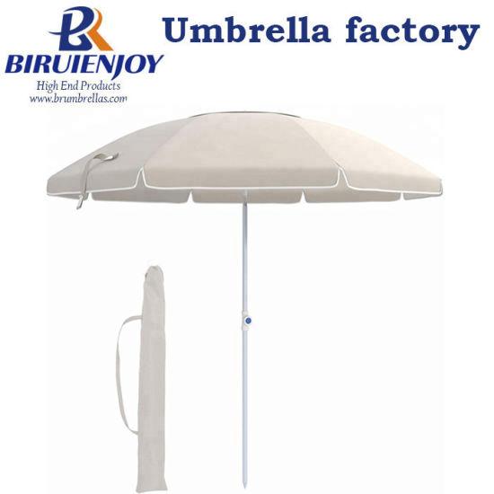 Custom UV Protection Portable Parasol Outdoor Beach Umbrella with Logo Prints