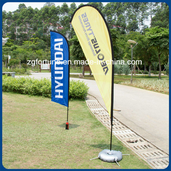 Factory Price Outdoor Promotion Custom Advertising Flying Banner Feather Flag Beach Flag pictures & photos