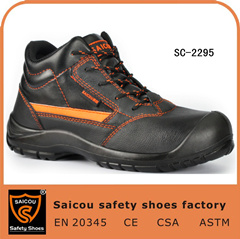 Best Selling Black Steel Toe Executive Safety Shoes Sc-2295