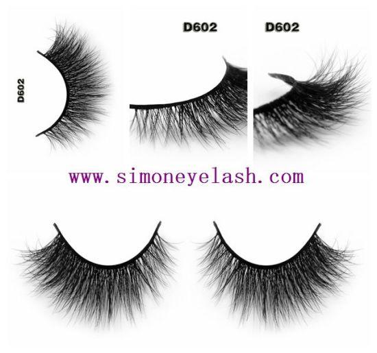 China 3d Mink Hair Natural Thick Mink False Lashes For Beauty Makeup