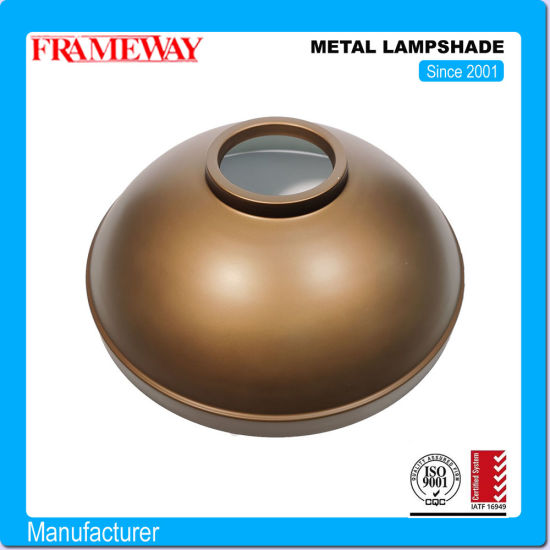 OEM Manufacturing Lighting Component Metal Lampshade Bronze Color Electroplated Steel Sheet Metal Forming Deep Drawing